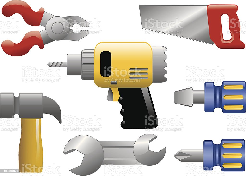 Tool Set royalty-free stock vector art