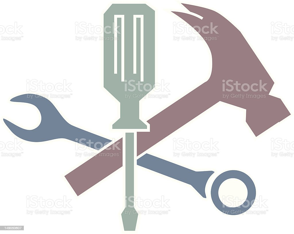 Tool time featuring different tools royalty-free stock vector art