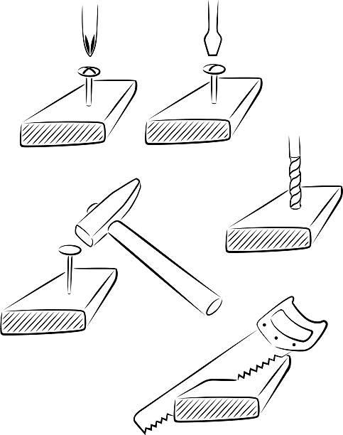 - tool - nagelspitze stock-grafiken, -clipart, -cartoons und -symbole