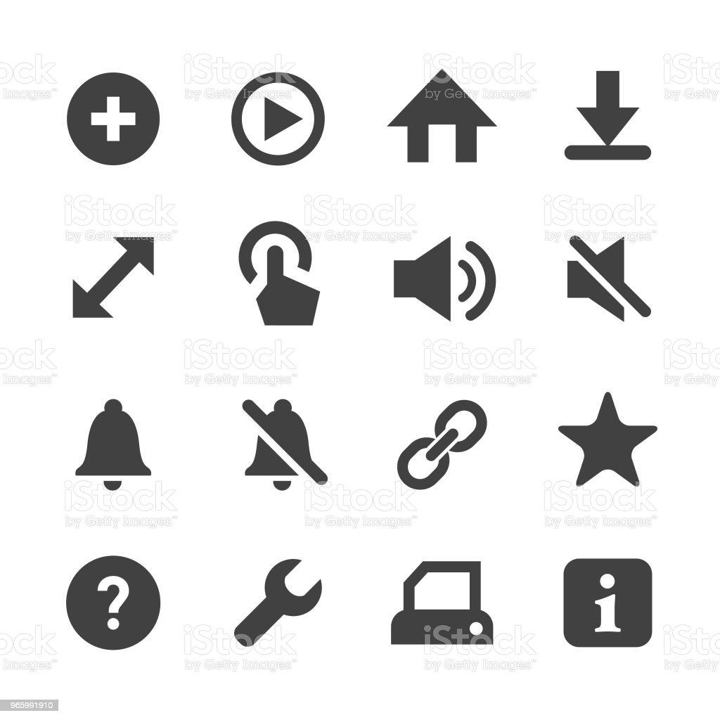 Toolbar and Control Icon - Minimal Series - Royalty-free Alarm stock vector
