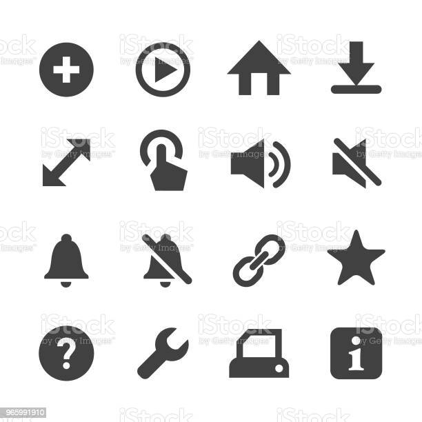 Toolbar And Control Icon Minimal Series Stock Illustration - Download Image Now