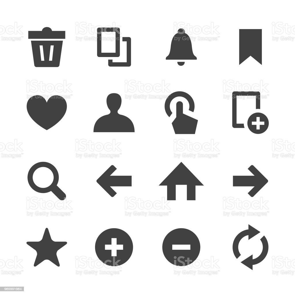Verktygsfältet och kontroll ikoner - Minimal serien - Royaltyfri Arrangera vektorgrafik