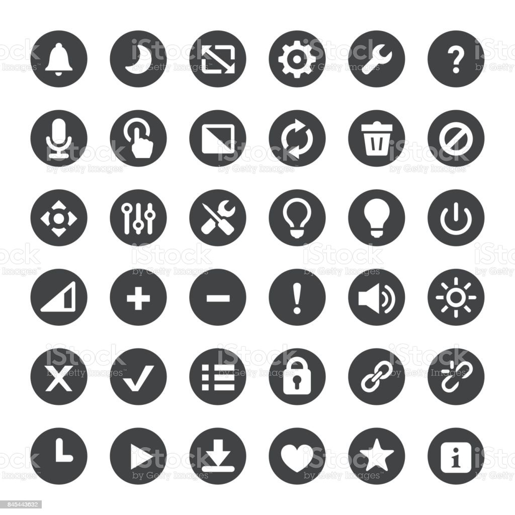 Toolbar and Control Vector Icons