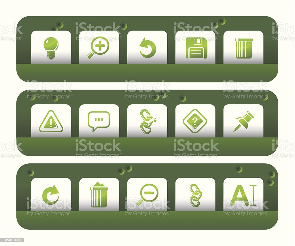 Toolbar and Interface icons | Shooting-gallery series royalty-free stock vector art