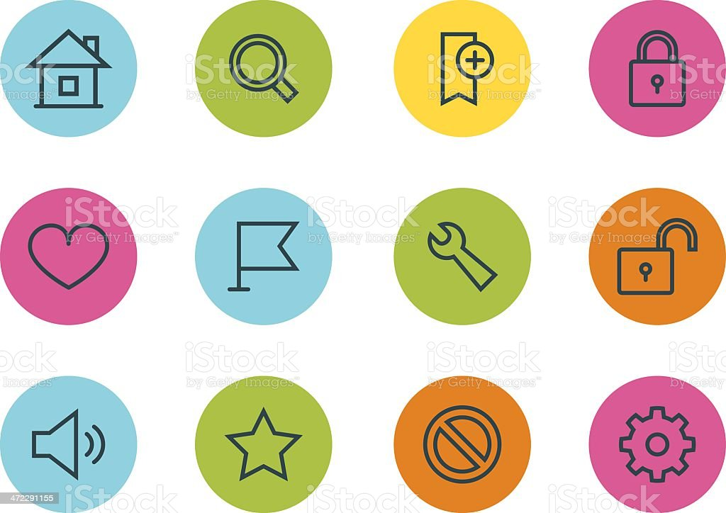 Toolbar and Interface icons royalty-free stock vector art