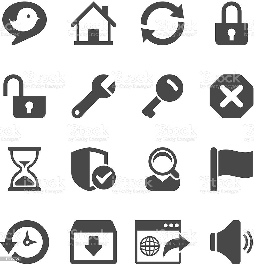 Toolbar Icon Set | Unique Series vector art illustration