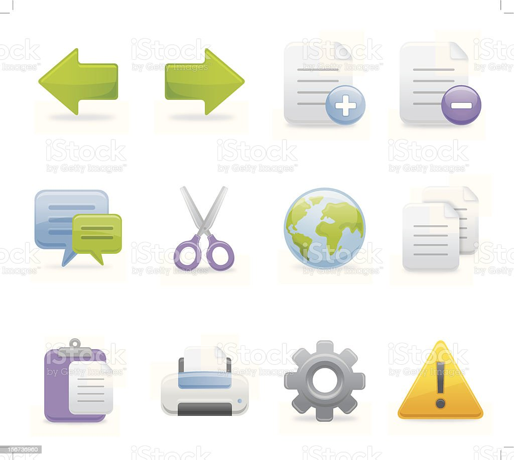 Toolbar Icons -  Set 2 | Soft Series vector art illustration