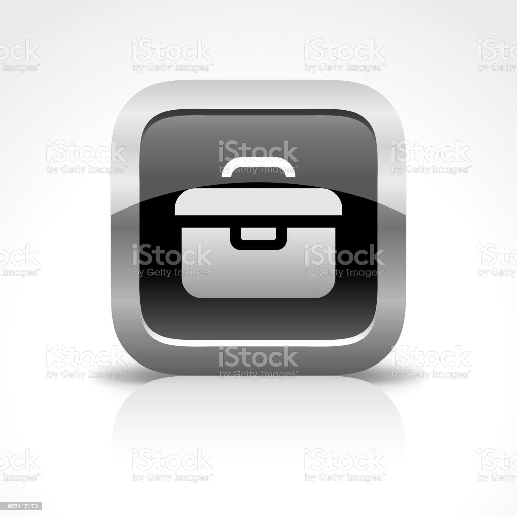 Toolbox Glossy Button Icon royalty-free toolbox glossy button icon stock vector art & more images of adjusting