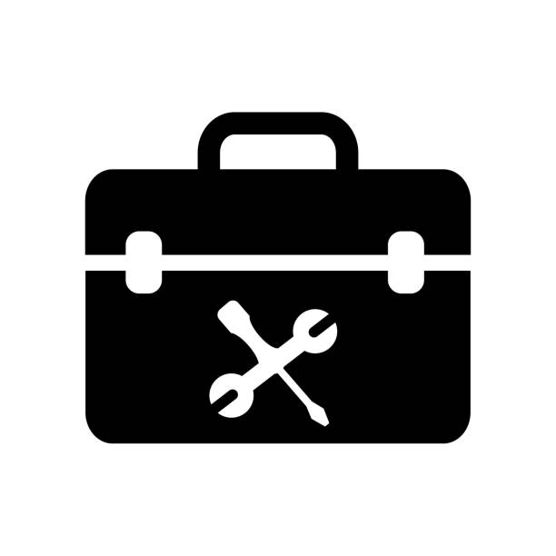 Royalty Free Open Tool Box Clip Art, Vector Images