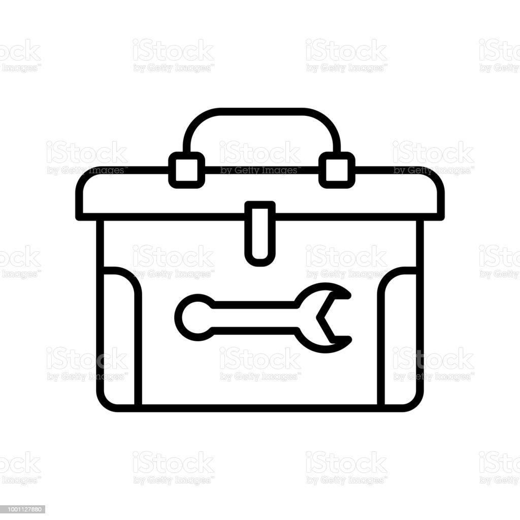 Toolboxsymbol Vektor Zeichen Und Symbol Isoliert Auf Weißem ...