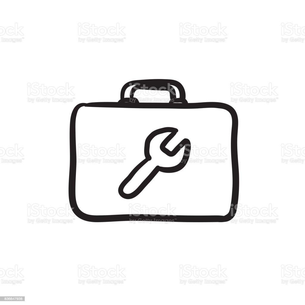 Toolbox Skizzesymbol Stock Vektor Art und mehr Bilder von Skizze ...