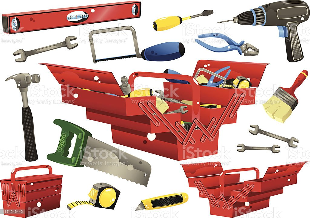 Toolboxes with hand tools royalty-free toolboxes with hand tools stock vector art & more images of building - activity