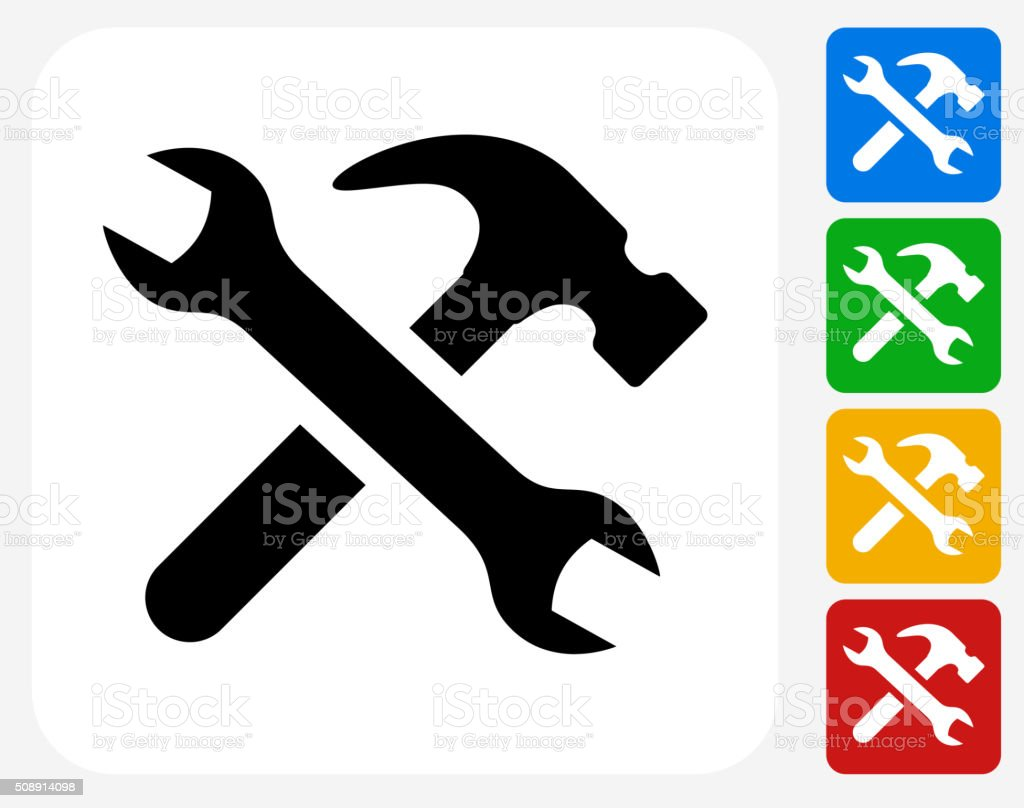 Tools and Hardware Icon Flat Graphic Design