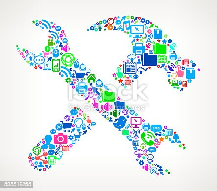istock Tools and Hardware Modern Technology & Communication interface icon Pat 535516255