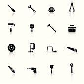 Tools Black & White Icons Set