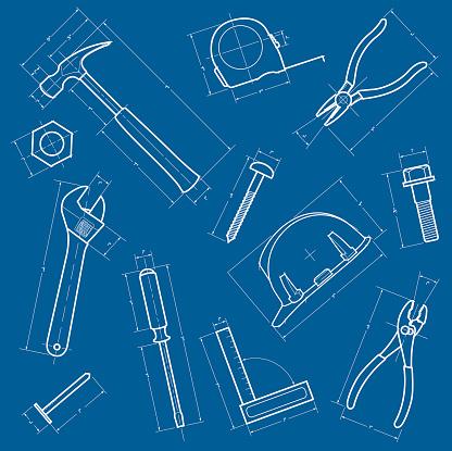 Tools Blueprint Background