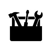 istock Tools Box icon. concept web buttons. vector illustration. Flat design style 953458944