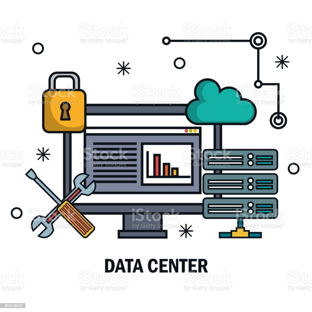 tools data server screen pc isolated royalty-free tools data server screen pc isolated stock vector art & more images of administrator