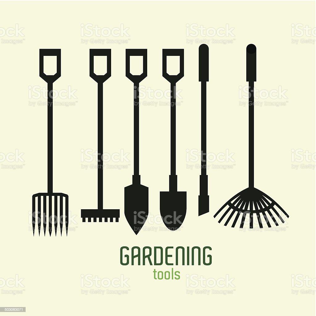 Tools design vector art illustration