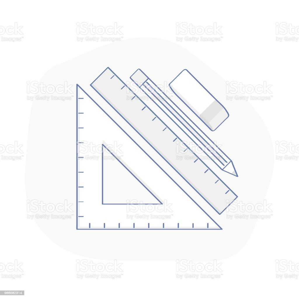Tools For Drawing, Engineering And Architecture Design Royalty Free Tools  For Drawing Engineering And