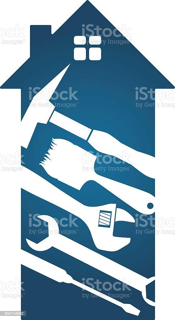 Tools for home renovation vector art illustration