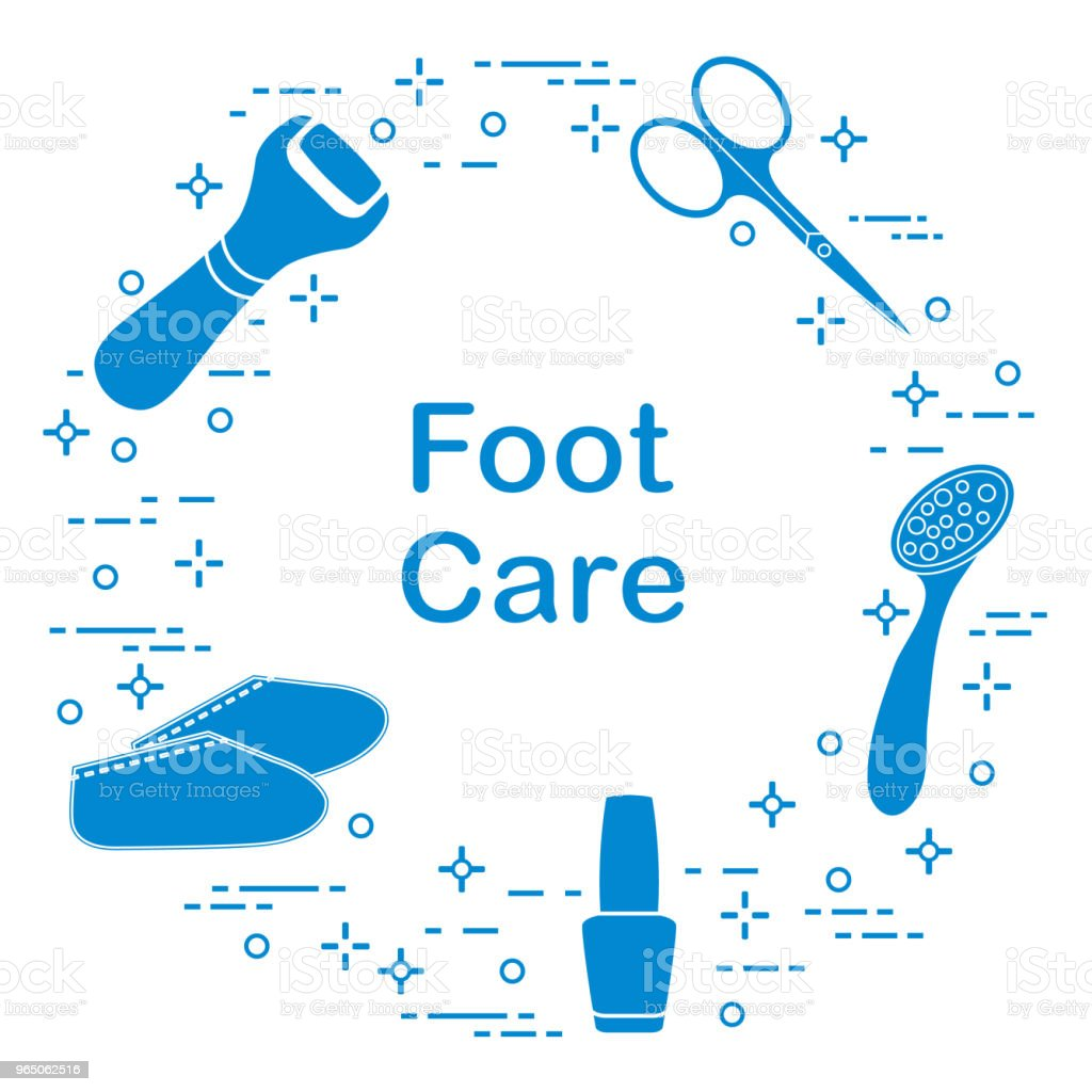 Tools for pedicure. Personal care. royalty-free tools for pedicure personal care stock vector art & more images of adult
