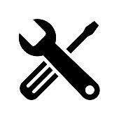 istock Tools icon flat vector illustration design 1161042024
