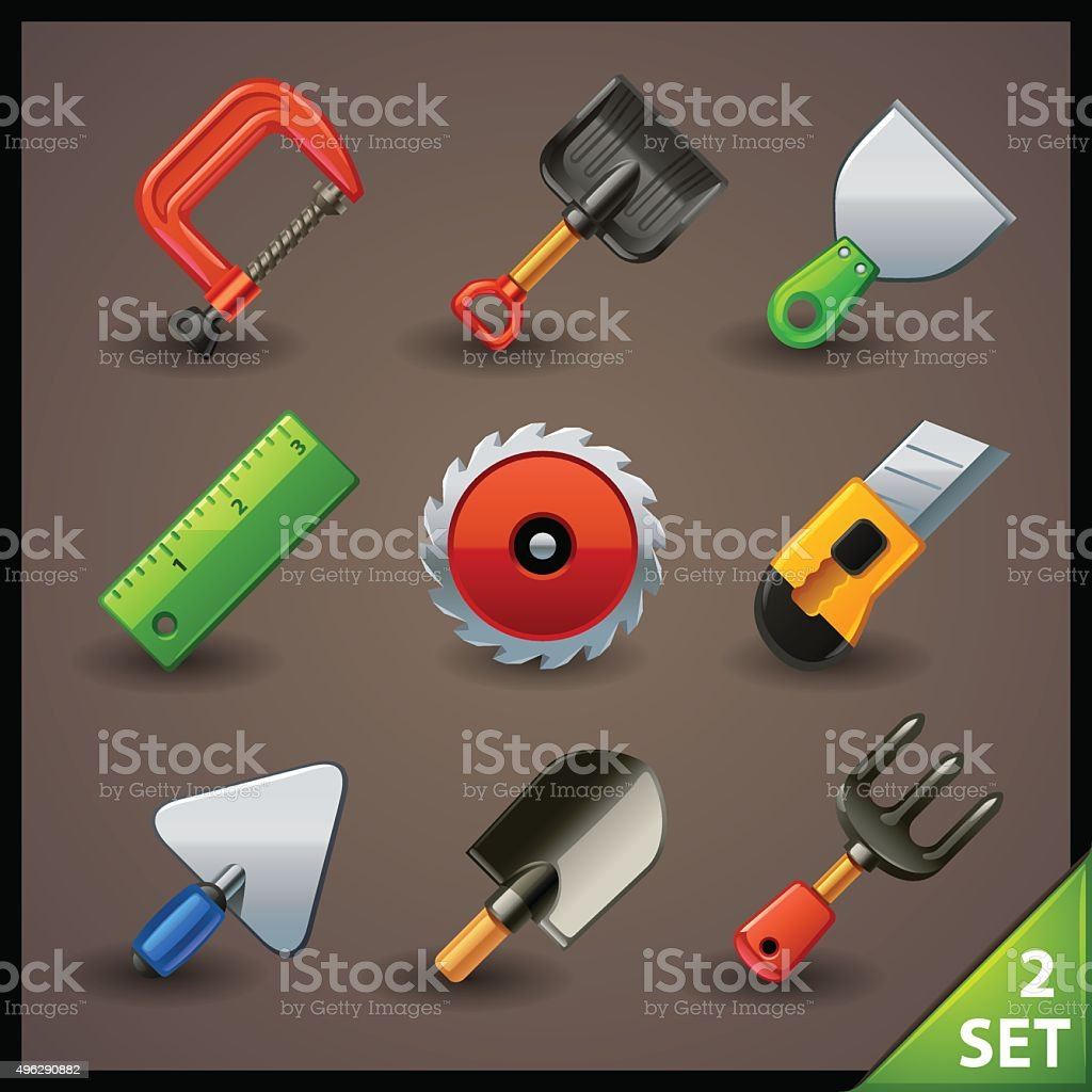 tools icon set-2 vector art illustration