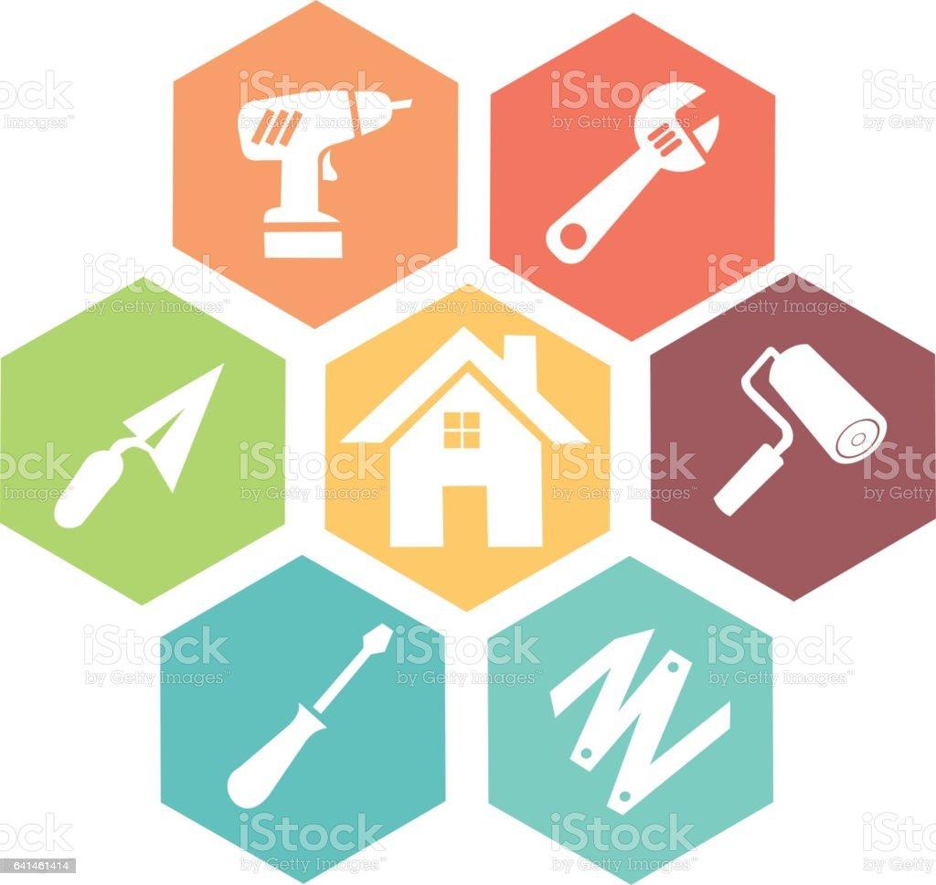 Ícone de ferramentas - ilustração de arte em vetor
