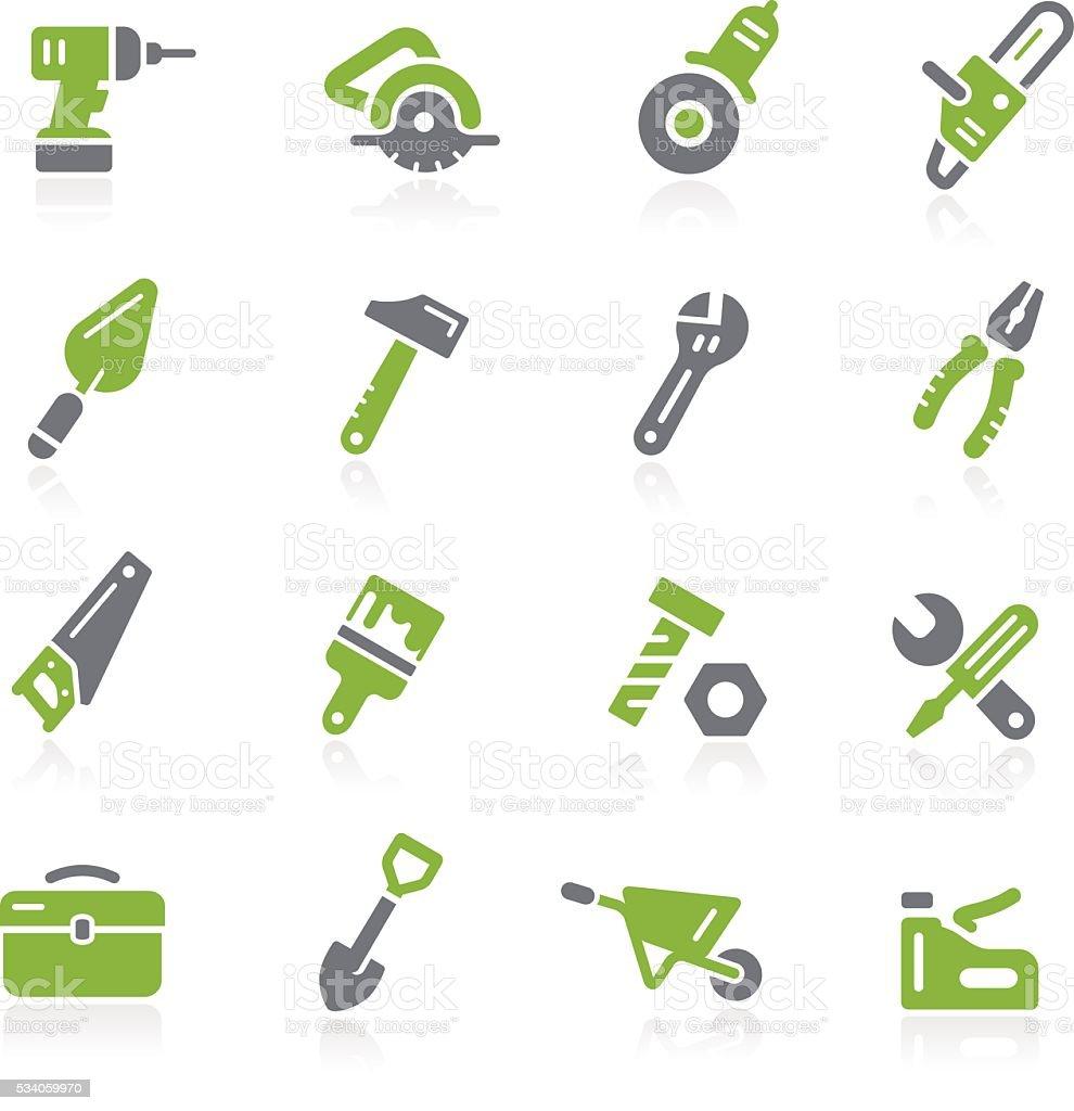 Tools Icons // Natura Series vector art illustration