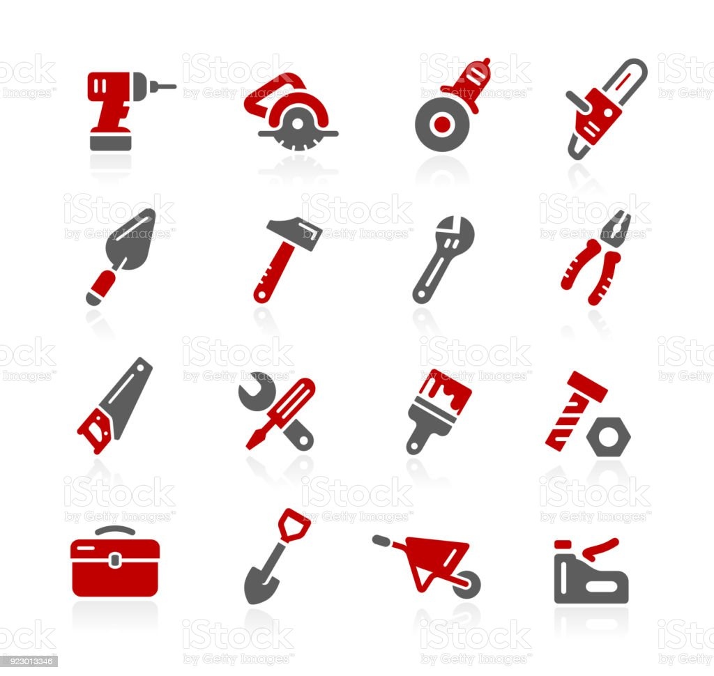 Tools Icons // Redico Series vector art illustration