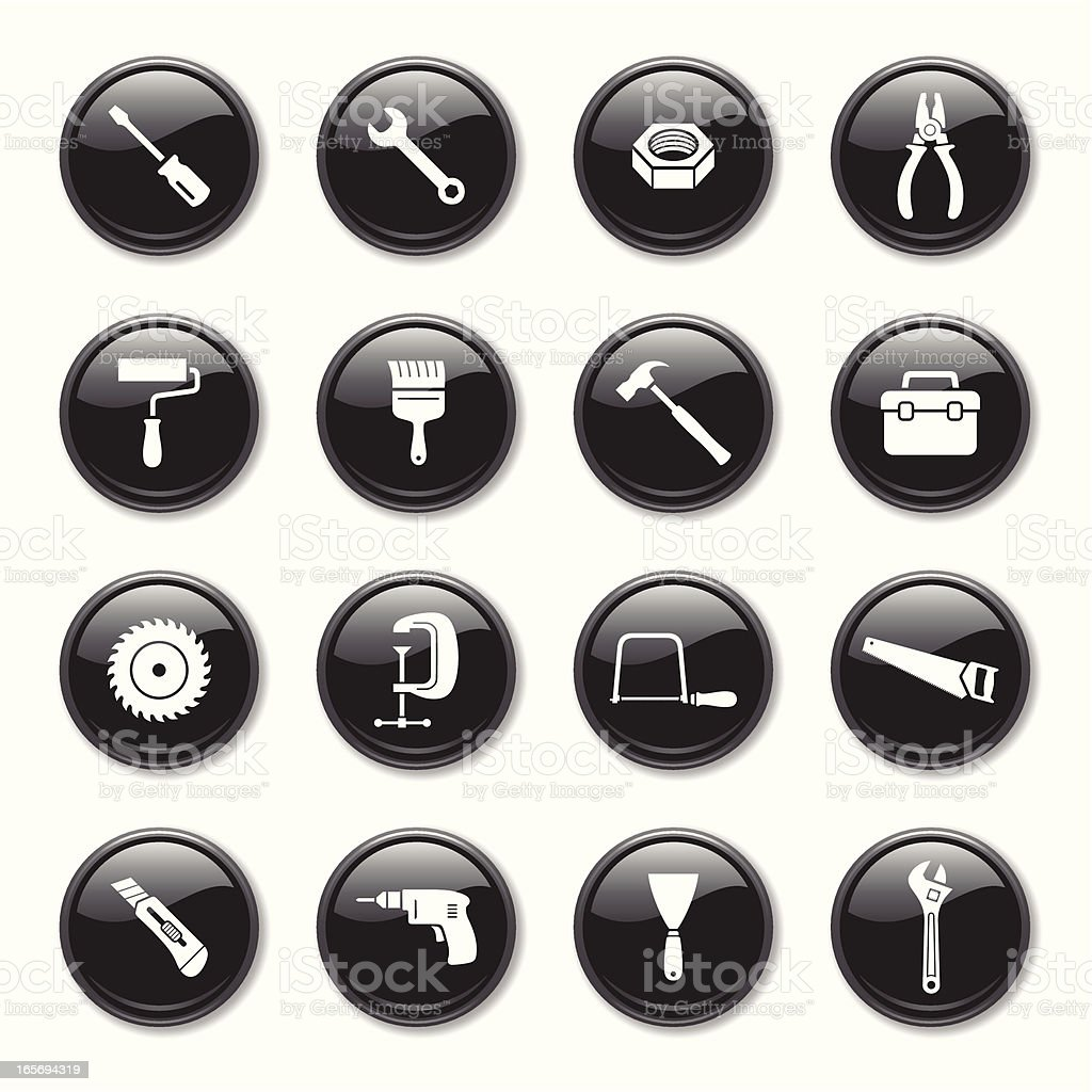 Tools Icons Set royalty-free stock vector art