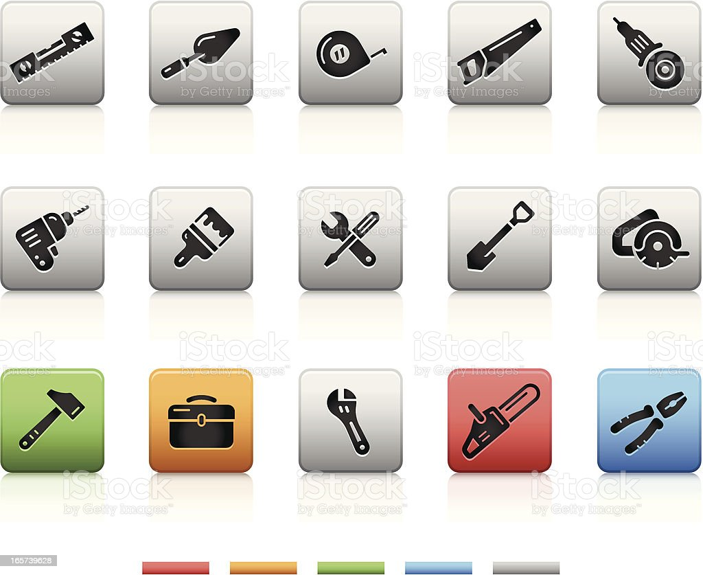 Tools Icons   Square royalty-free tools icons square stock vector art & more images of black color