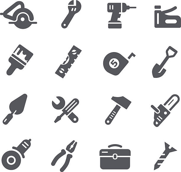 Tools Icons Vector tools icons for your website or print projects. gardening equipment stock illustrations