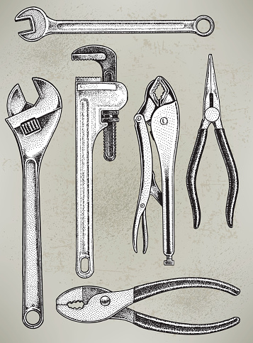 Tools - Repair Equipment, Wrench, Pliers
