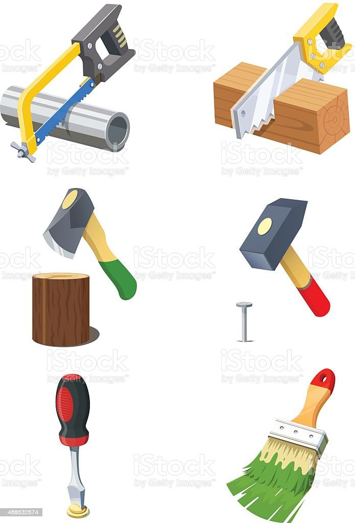 Tools. Set of vector icon. vector art illustration