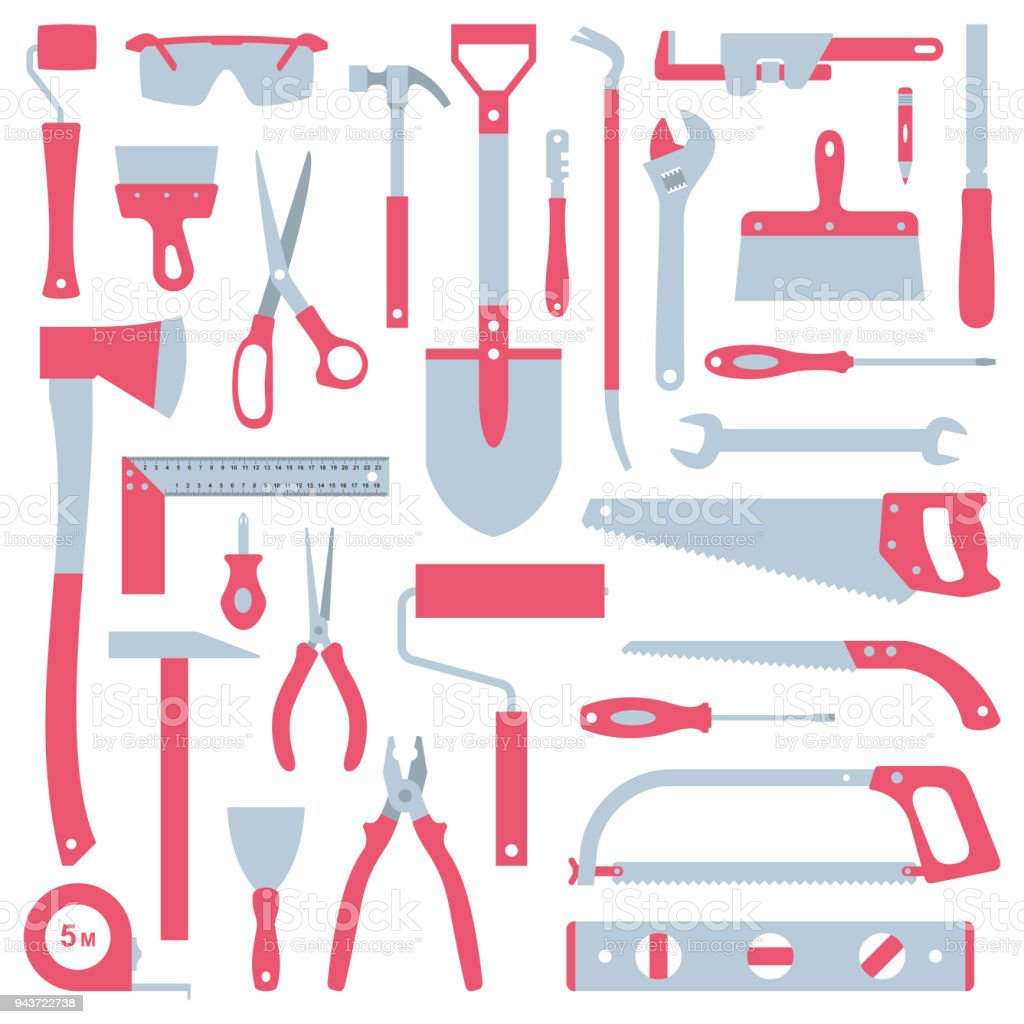 Tools Set vector art illustration