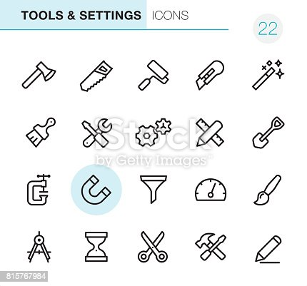 20 Outline Style - Black line - Pixel Perfect icons / Set #22