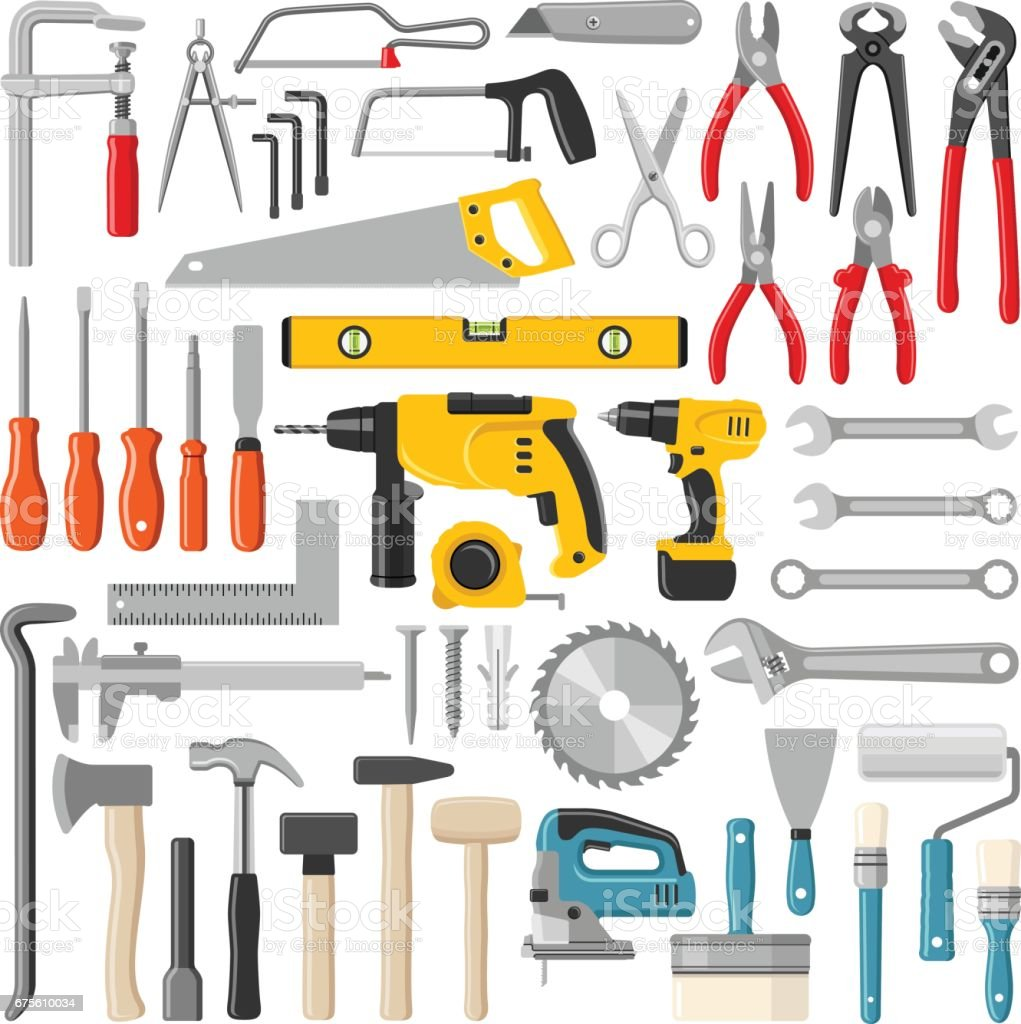 Tools vector art illustration