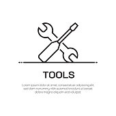 istock Tools Vector Line Icon - Simple Thin Line Icon, Premium Quality Design Element 1144490941