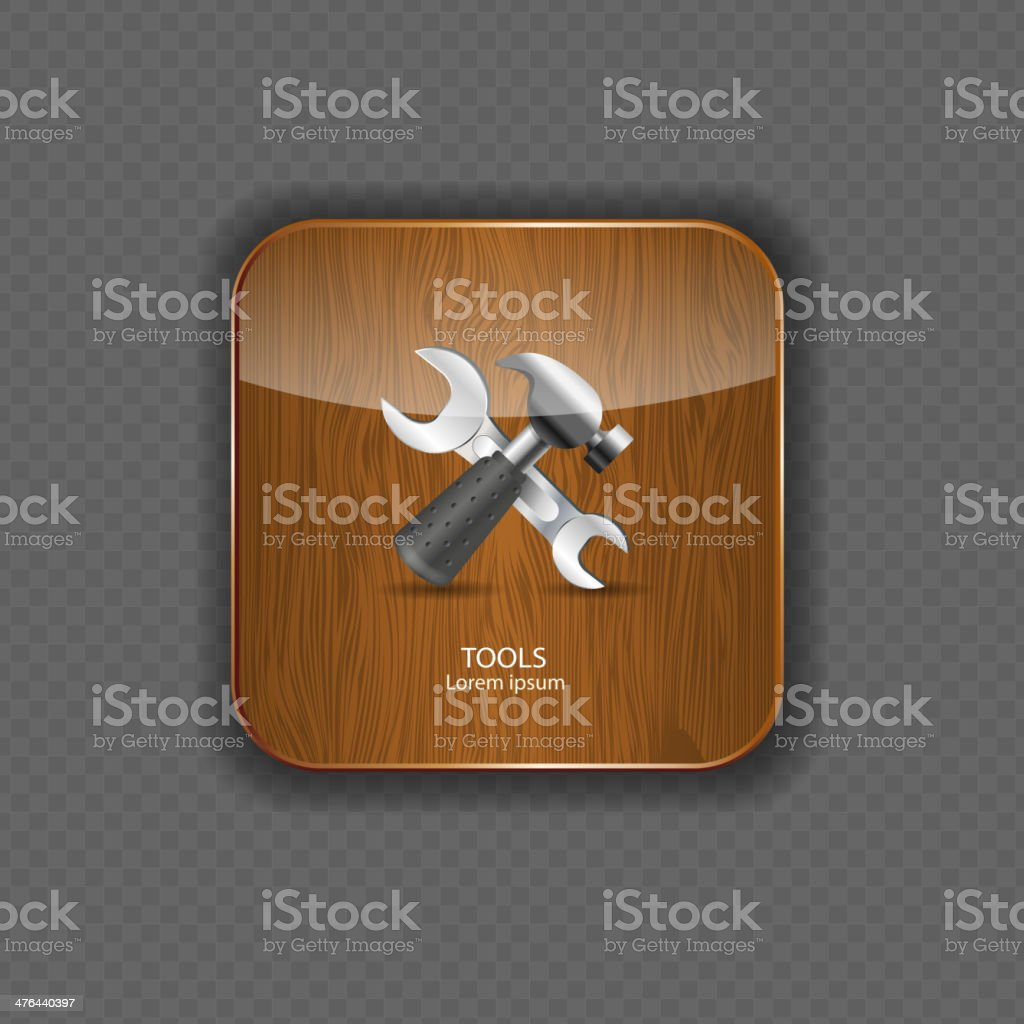 Tools wood application icons vector illustration royalty-free tools wood application icons vector illustration stock vector art & more images of abstract