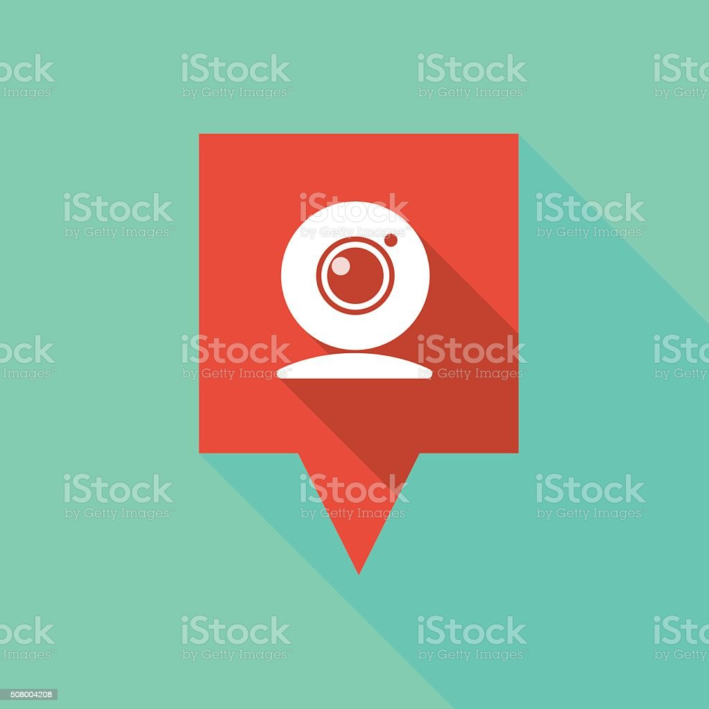 Tooltip icon with a web cam vector art illustration