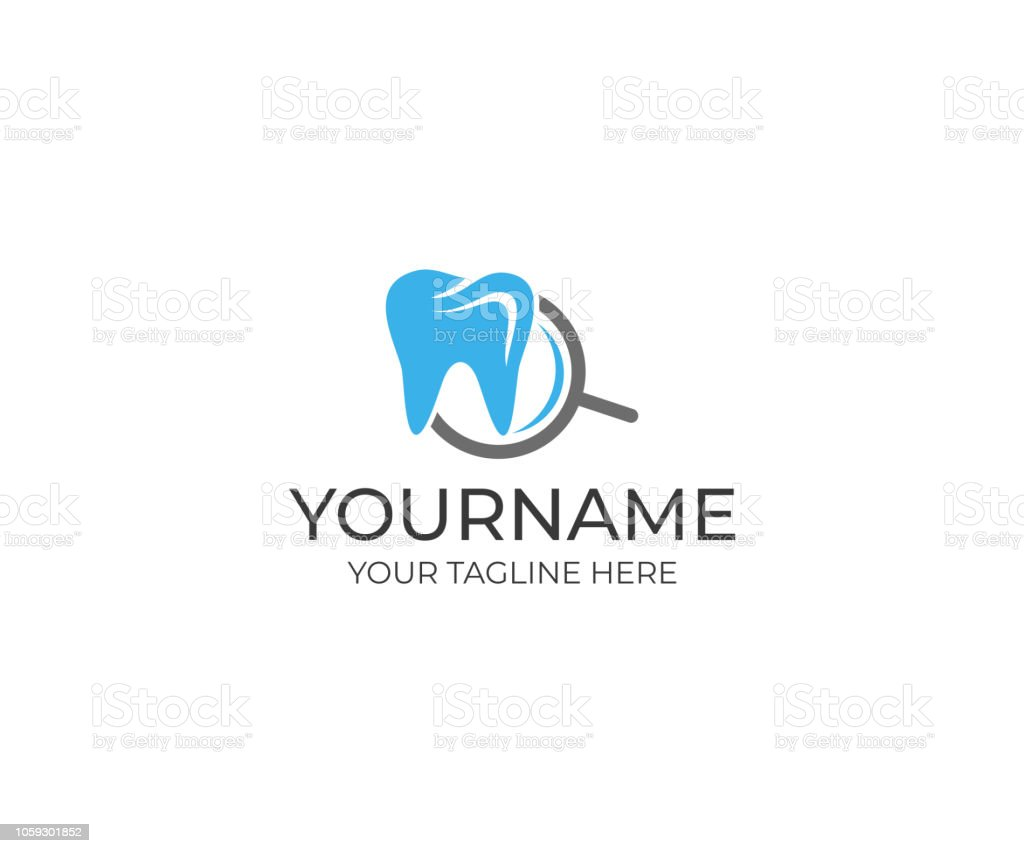 Tooth And Magnifier Logo Design Search Dental Clinic Vector Design Healthy Teeth Illustration Stock Illustration Download Image Now Istock