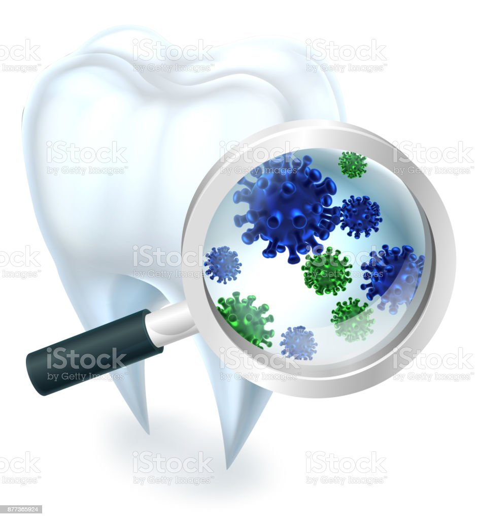 Tooth Bacteria vector art illustration