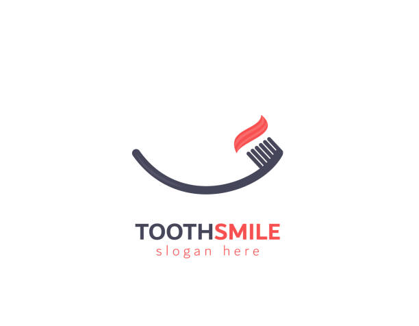 tooth brush smile vector - dentist stock illustrations