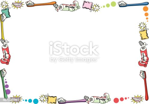 Tooth Care Frame C Stock Vector Art & More Images of Copy ...
