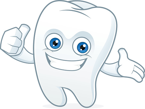 Tooth Cartoon Mascot Clean And Happy Stock Illustration ...