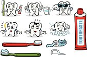 Great set of illustrations of a tooth guy showing dental care. Perfect for an informative illustration about dental care. EPS and JPEG files included. Be sure to view my other illustrations, thanks!