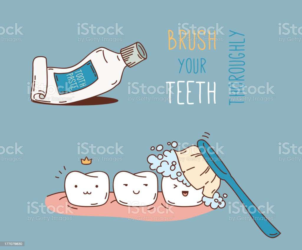 Tooth Cleaning royalty-free stock vector art