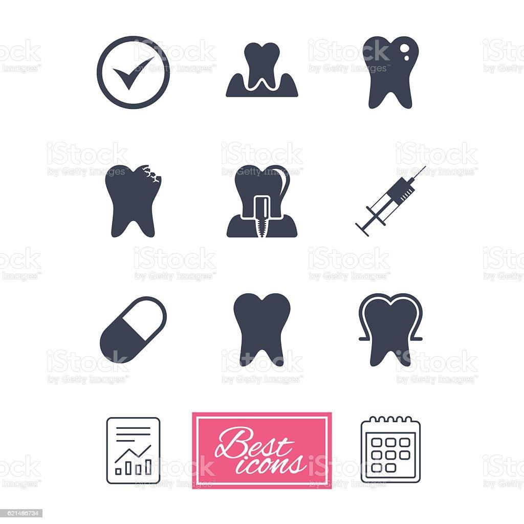 Zahn, dental care-icons. Stomatology Beschilderung. Lizenzfreies zahn dental careicons stomatology beschilderung stock vektor art und mehr bilder von dokument
